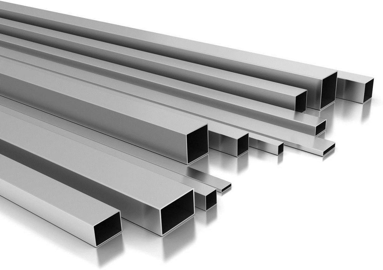 Langlitz Metalle - Tubo cuadrado / rectangular de aluminio, hueco, hasta 2m