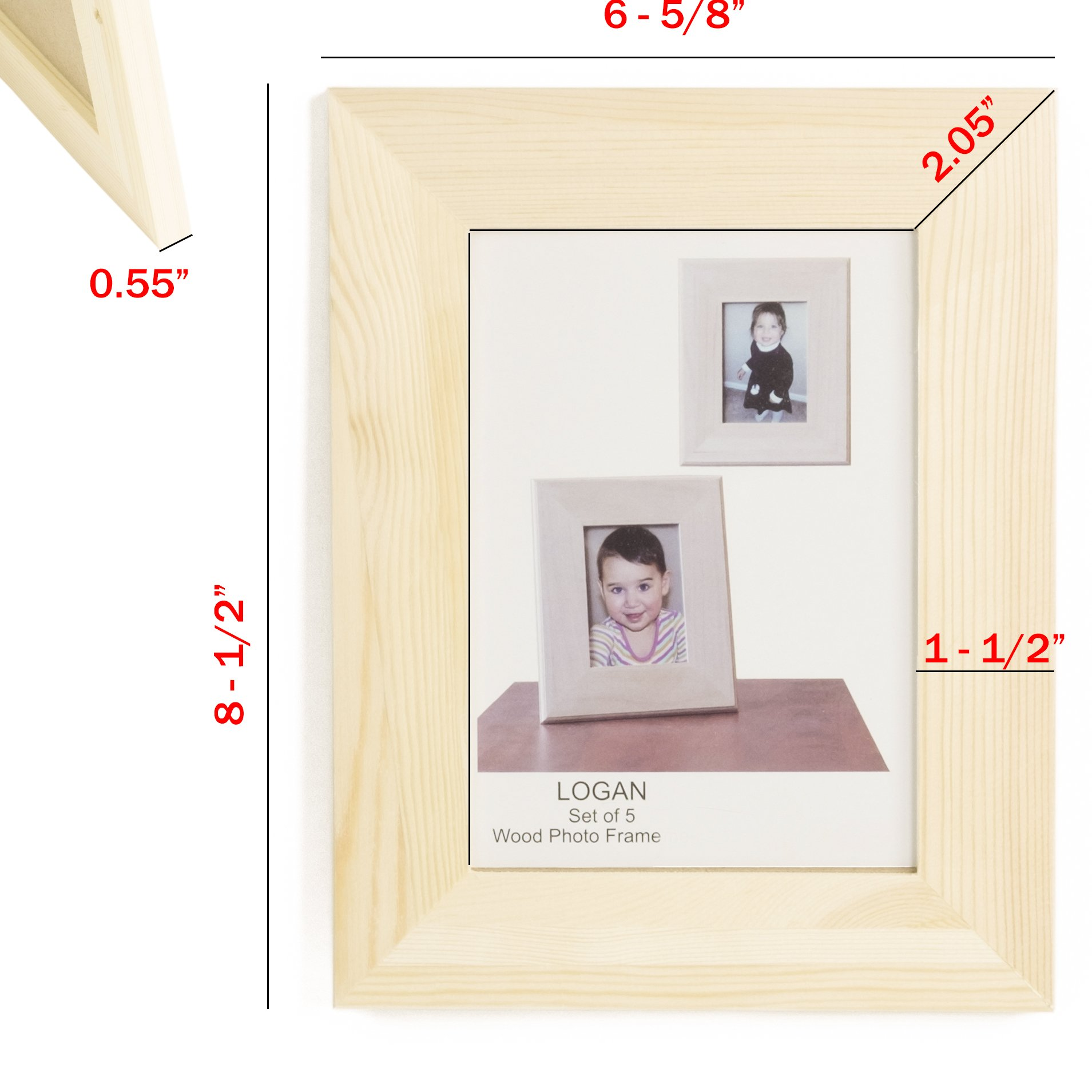 WALLNITURE Kid's DIY Projects Picture Frames Crafting Unfinished Wood 4x6 Set of 10 by Fasthomegoods (Image #2)