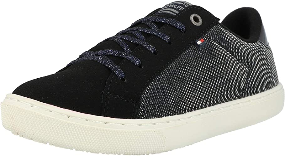 Tommy Hilfiger W3285oolie Jr 2C Midnight Textile Youth Sneakers