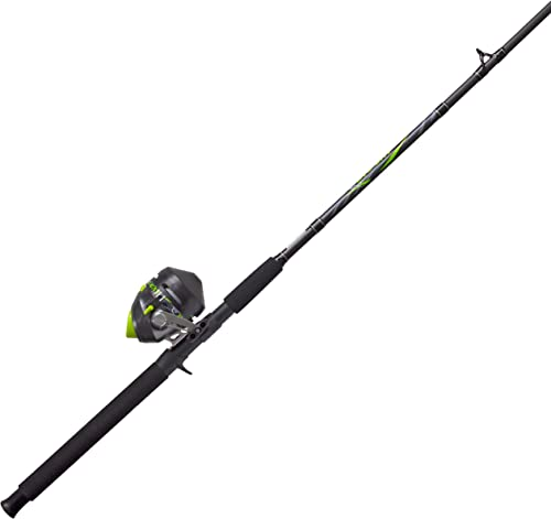 Zebco BCATSC702MH, 20, NS4 Zebco Big Cat Spincast Combo 2.6 1 Gear Ratio, 7 2Piece Rod, 8-17 lb Line Rating