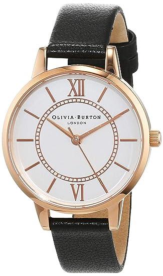 Olivia Burton Reloj Analógico para Mujer de Cuarzo con Correa en Cuero OB15WD59