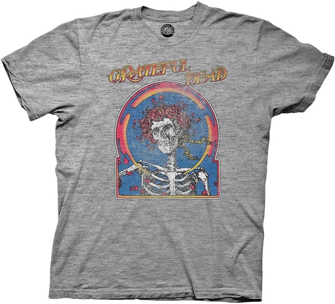 Ripple Junction Grateful Dead Skull & Roses Tour 87 Premium Triblend Slub Adult T-Shirt