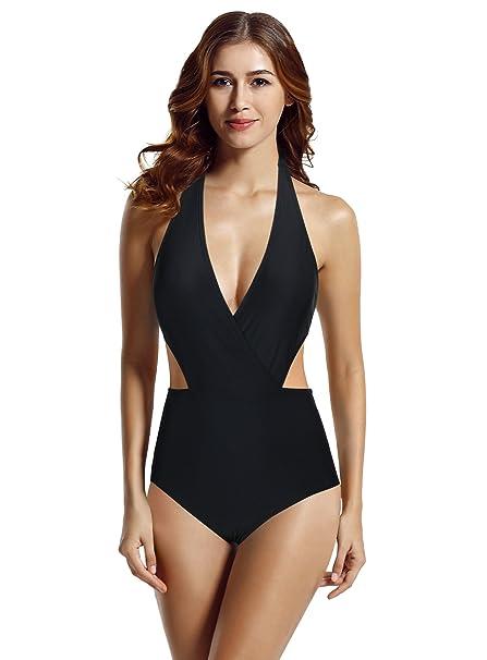 Amazon.com: zeraca traje de baño monokini de una pieza con ...