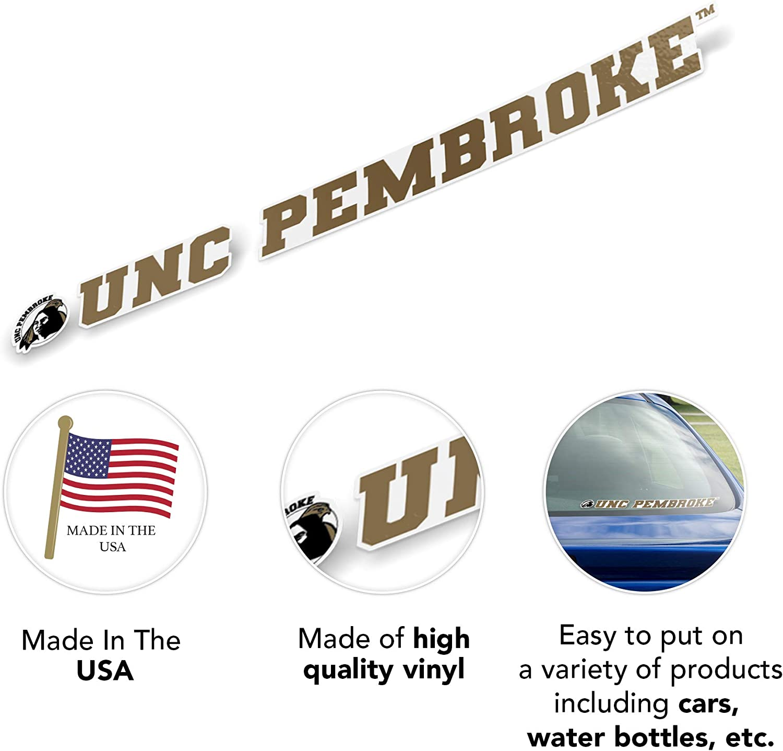 University of North Carolina at Pembroke UNCP Braves NCAA Name Logo Vinyl Decal Laptop Water Bottle Car Scrapbook 15 Inch Sticker