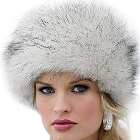 8dcec576d4e417 Amazon.com : Miki Da Unisex NEW Winter Warm Faux Rabbit Fur Hat Russian  Style Mens Womens Cossack Caps Fluffy Beanies Mink Fur Skullies 05 : Sports  & ...