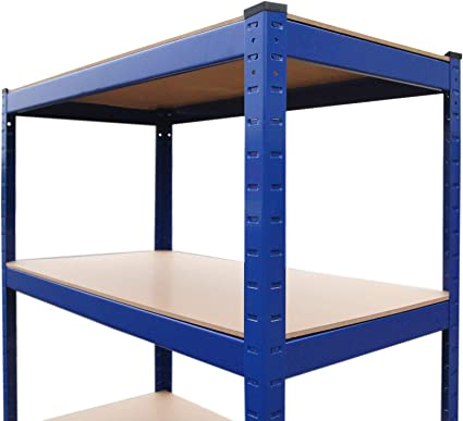 Monster Racking - 4 Estanterías T-Rax De Acero Sin Tornillos Azules 90cm x 45cm x 180cm: Amazon.es: Bricolaje y herramientas