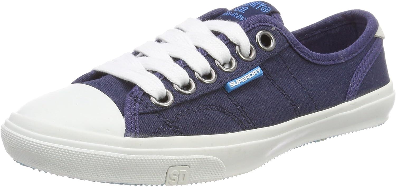 Superdry Damen Low Pro Sneaker Slip On, schwarz
