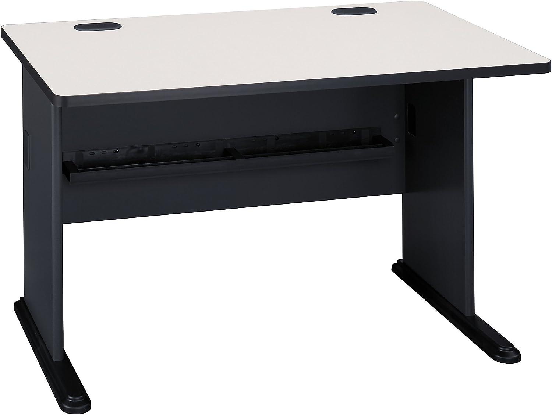 Bush Business Furniture Series A 48W Desk in Slate and White Spectrum