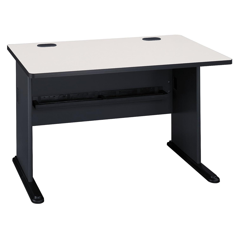 Bush Business Furniture Series A 48W Desk in Slate and White Spectrum Bush Furniture WC8448A