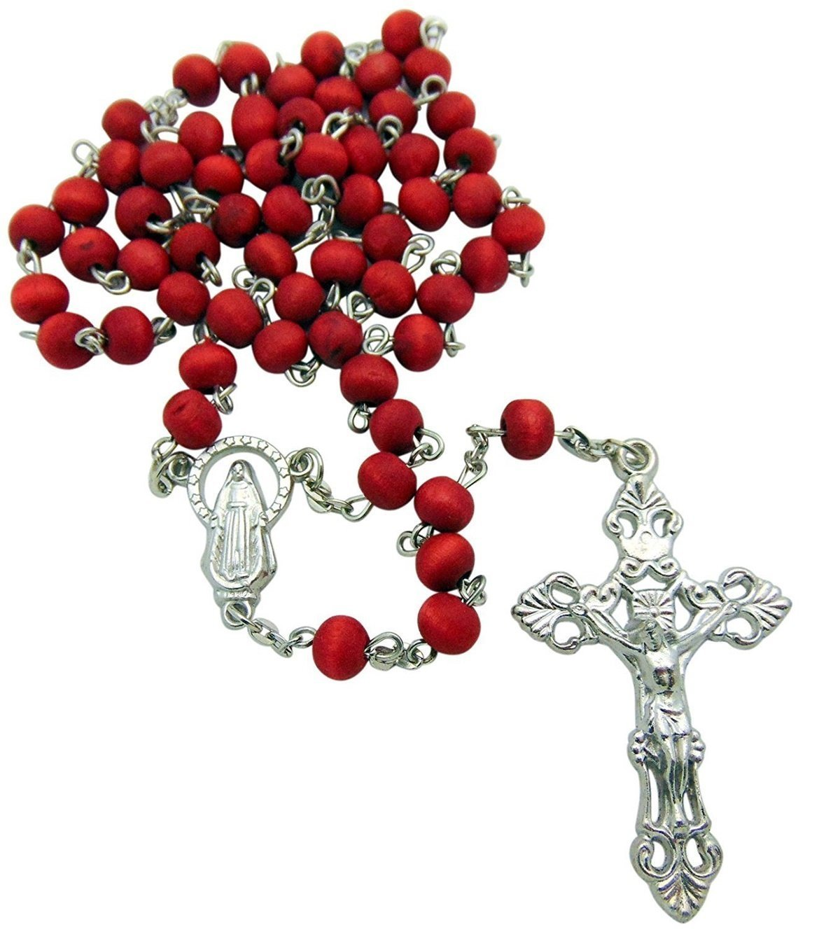 CB Rose Scented Carved Rose Petal Rosary