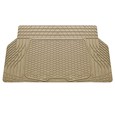 FH Group F16403TAN Cargo Mat Fits Most Sedans, Coupes and Small SUVs (Semi Custom Trimmable Vinyl Tan): Automotive