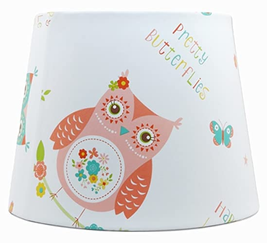 Owl Lampshade Or Ceiling Light Shade 10 Girls Children S Kids Pink
