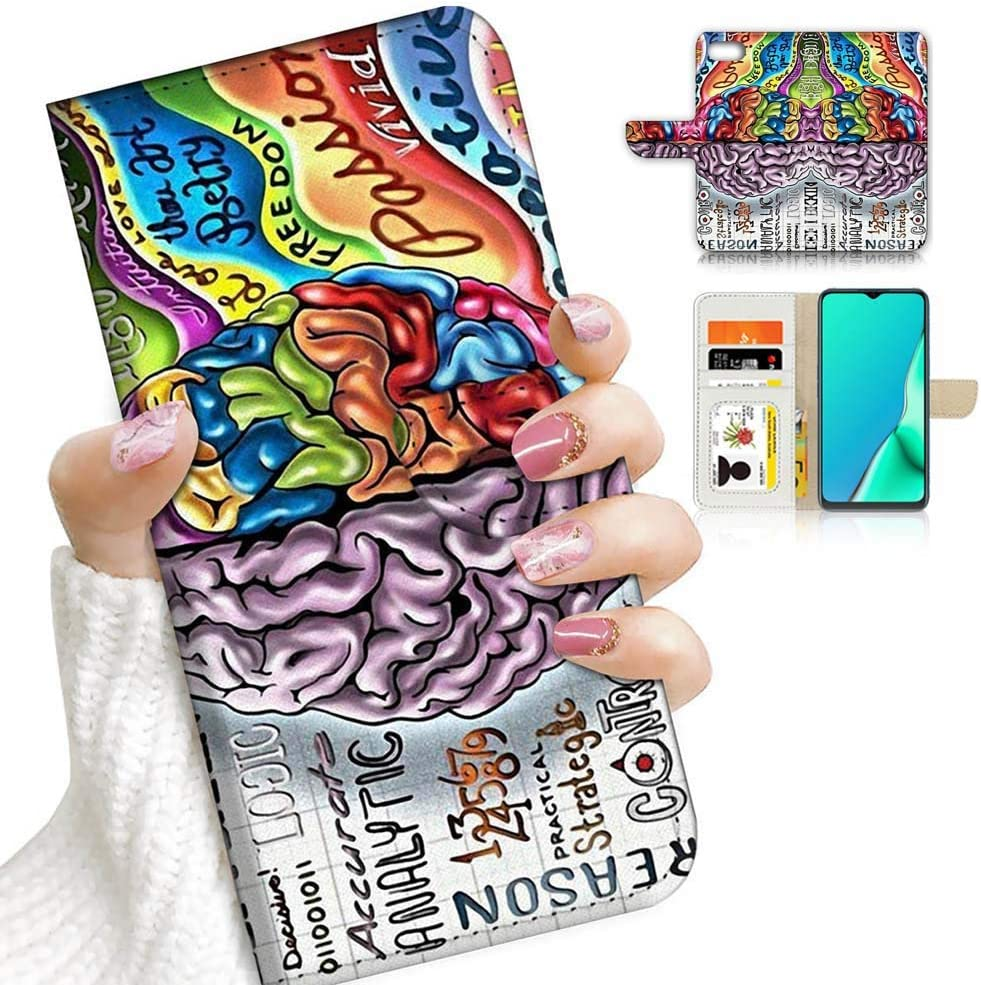 for iPod 7, iPod 6, iPod Touch 7th, 6th Generation, Designed Flip Wallet Case Cover, A23223 Human Brain