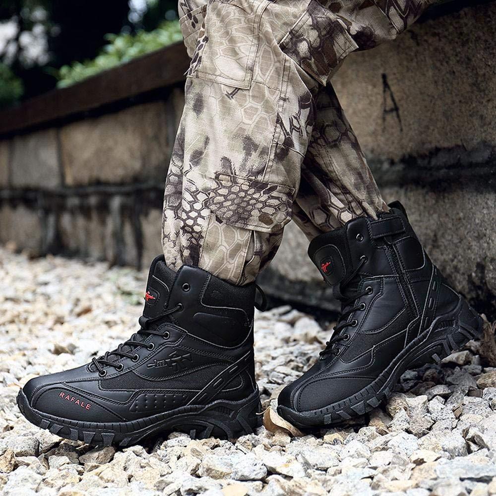 NINGSANJIN Winterschuhe Männer Militärstiefel Desert Taktische Desert Militärstiefel Combat Ankle Boat Armee Arbeitsschuhe Kampfstiefel 39-46 75aaa1