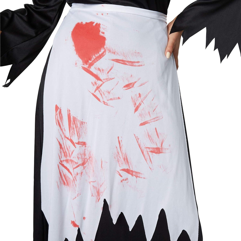 dressforfun 900434- Disfraz de Mujer Bruja Espeluznante, Disfraz de Bruja parcialmente Deshilachado y ensangrentado (XXL | No. 302234): Amazon.es: Productos para mascotas