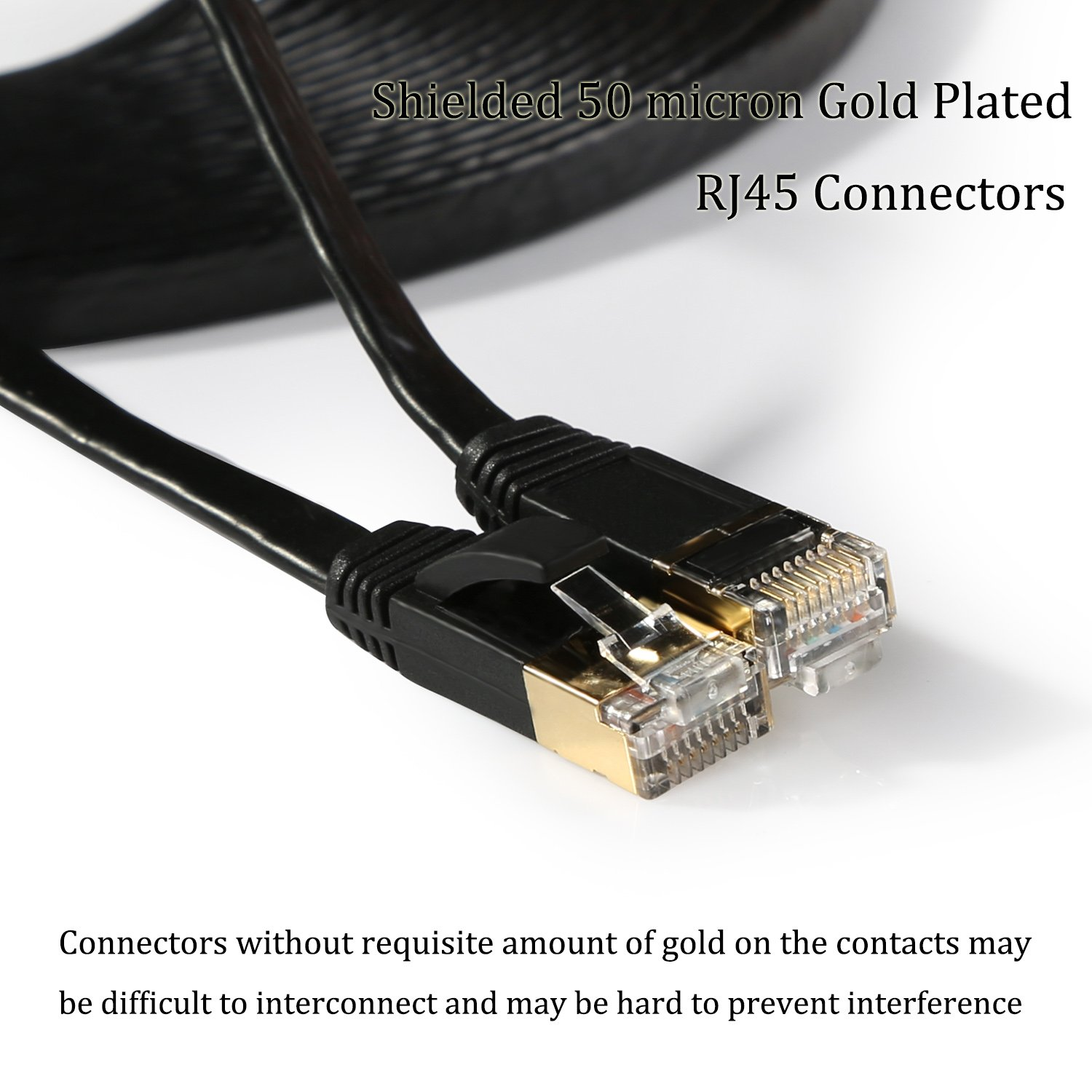 Hexagon Network Ethernet Cable Cat7 Flat 15ft Black Rj45crossovercablejpg Shielded Stp Cat 7 Slim Patch Internet With