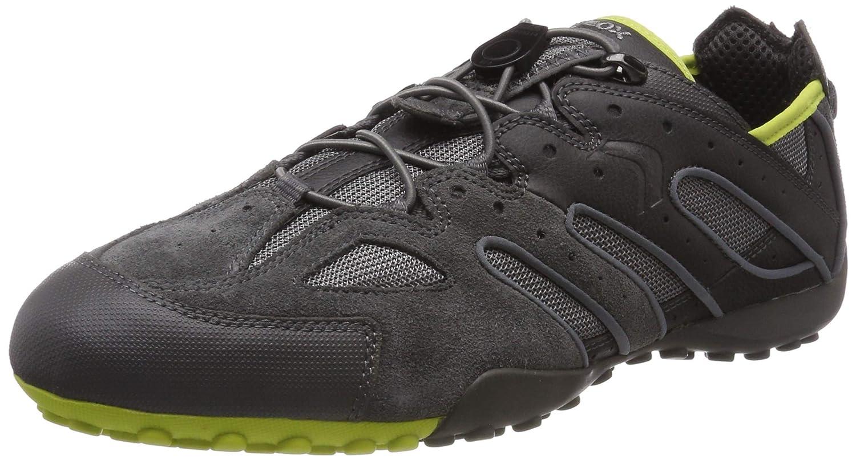 Grey (Dk Grey Lime C1267) Geox Men's men Snake J Low-Top Sneakers