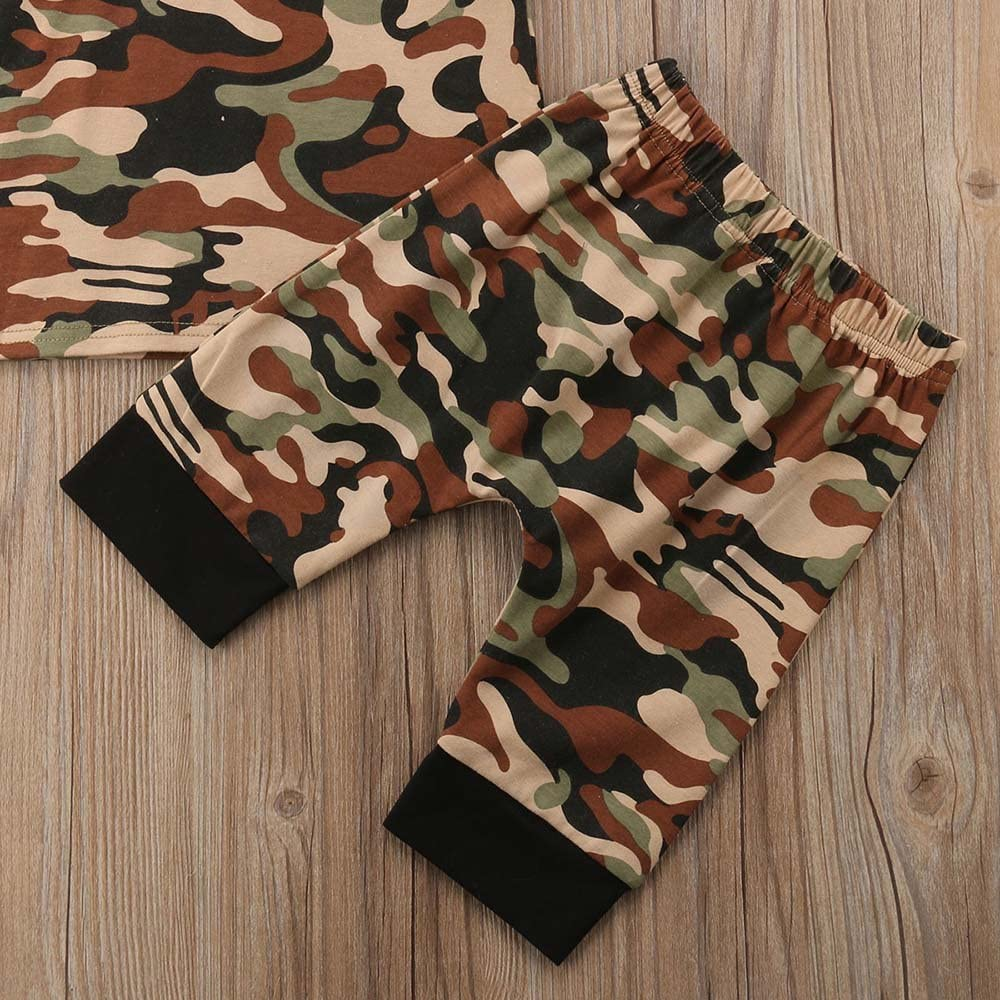 Shorts Pants Summer Outfit Set Clothes Boys Girls Camouflage Hoodie Romper Top