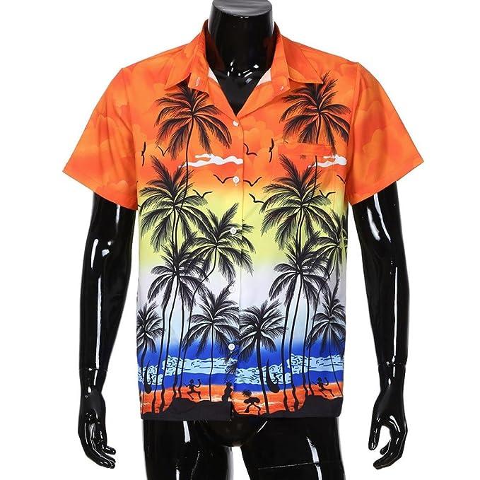 HUI Camisa t-Shirt tee Tops Blusa Polos Hombre, Hombres Personalidad Autocultivo Piña Imprimir Manga Corta Hawai Tropical Casual Camisas: Amazon.es: Ropa y ...