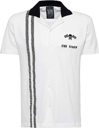 King Kerosin Racing Hombre Camisa Manga Corta Negro, Regular ...