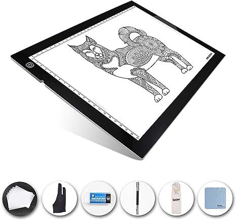 """22/"""" x 14/"""" x 0.3/"""" Slim LED Artist Tattoo Stencil Board Light Box Drawing Pad"""
