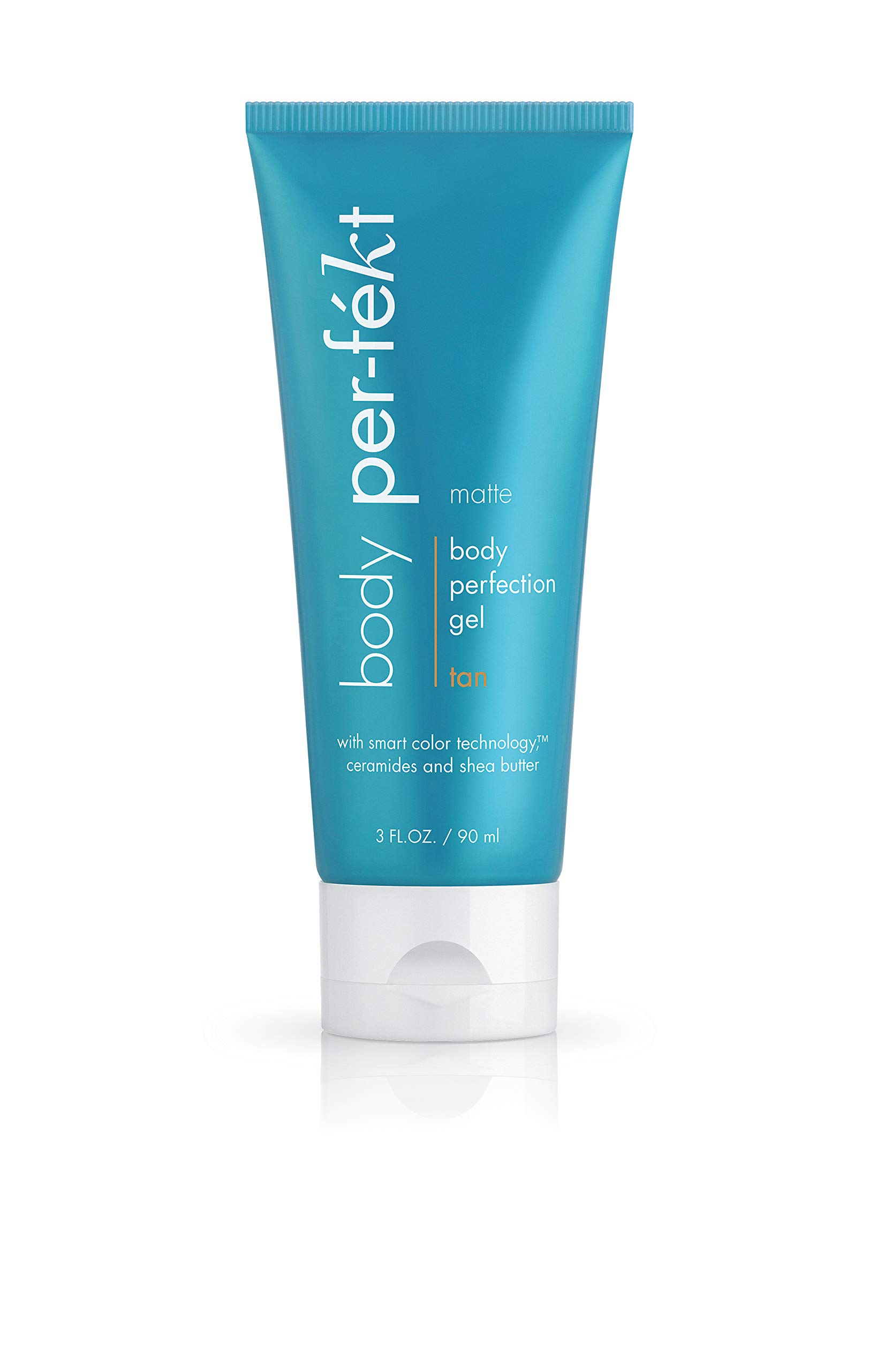 Body Perfection Gel - A Sunless, Natural Tanning Gel from Per-fekt Beauty, Your Cruelty Free Makeup Solution - Matte Tan, 3 Fl Oz / 90 ml