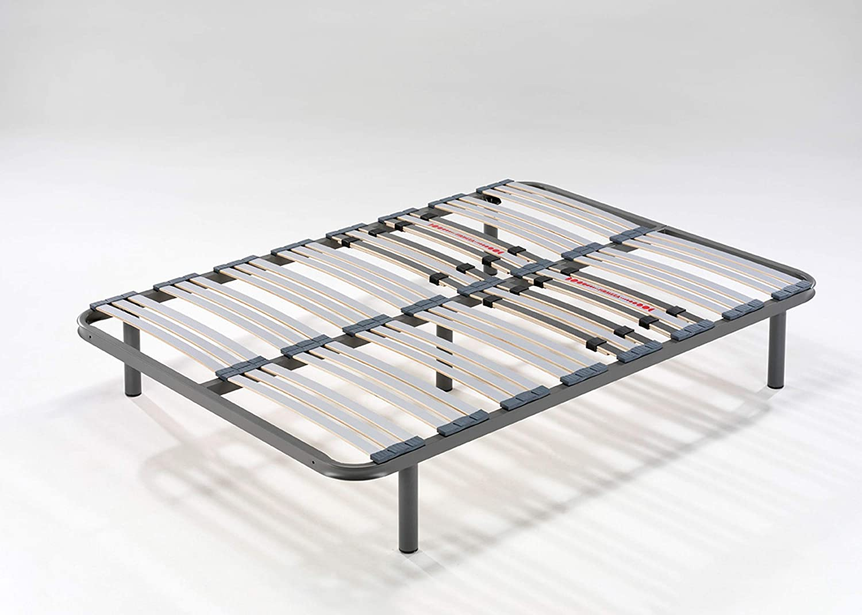 Hogar 24 Somier Multiláminas con Reguladores Lumbares + Juego De 5 Patas De 32cm, 135x180cm