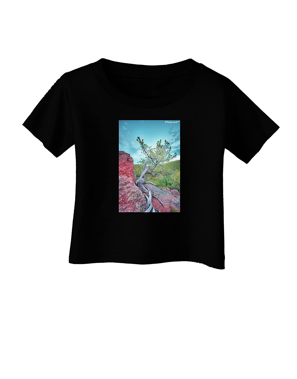 TooLoud CO Cliffside Tree Infant T-Shirt Dark