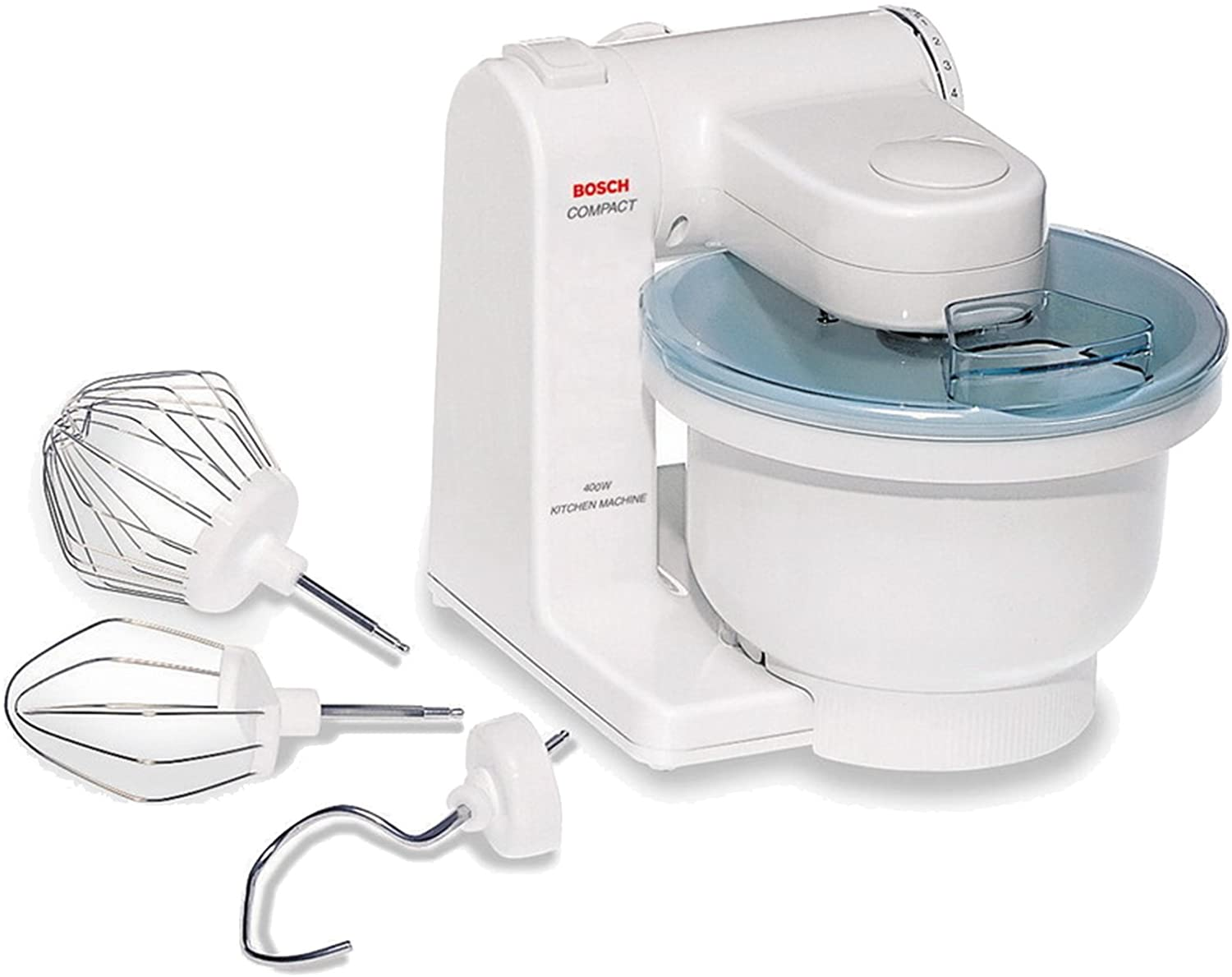 Bosch MUM4405 Compact Tilt-Head Stand Mixer with Pouring Shield, 400 watt, 4 Quart