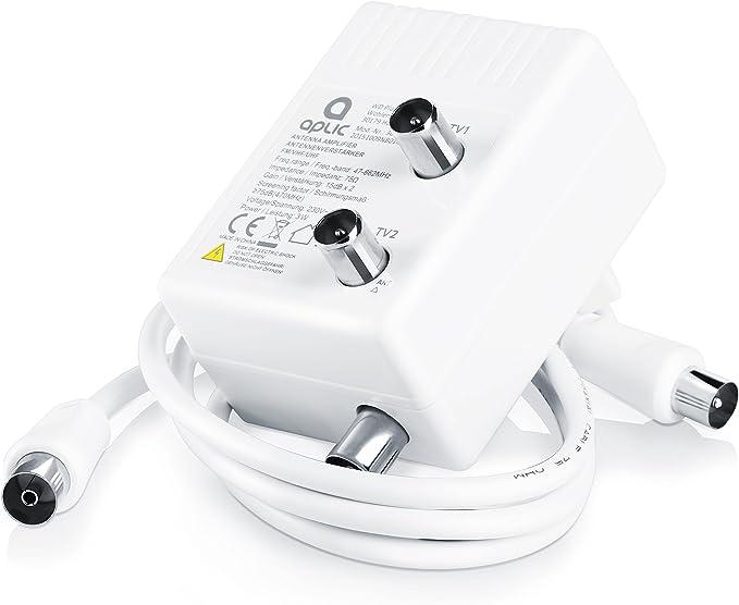 Amplificador de Antena Aplic para Dos aparatos para DVB-T ...