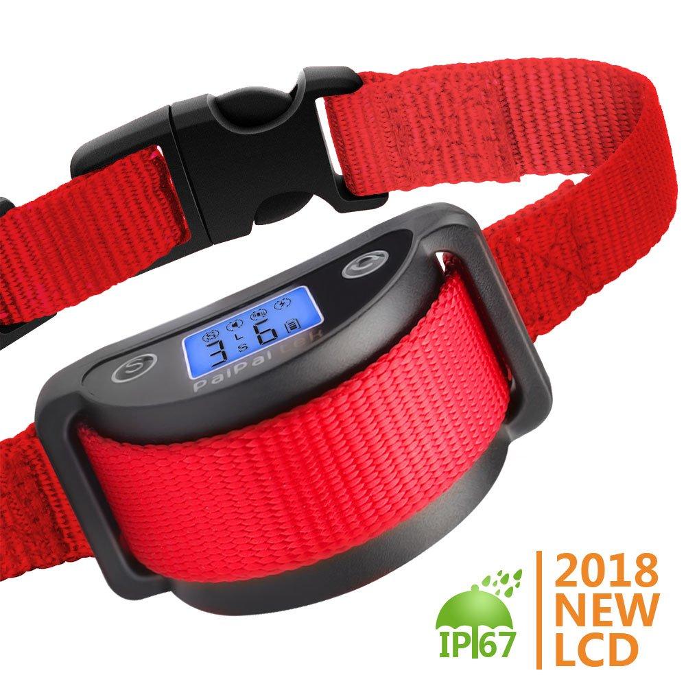 Paipaitek Bark Collar - Rechargeable Dog Bark Collar, Best Dual Stop Anti Barking: Beep/Vibration/ Harmless Shock, No Bark Collar for Small Medium Large Dogs - Stop Barking Safe (6+lbs)