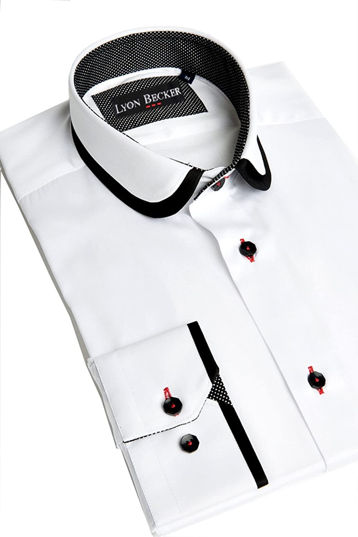 Mens Designer Italian Slim Fit Formal Casual Shirt Long Sleeve Size S M L XL XXL