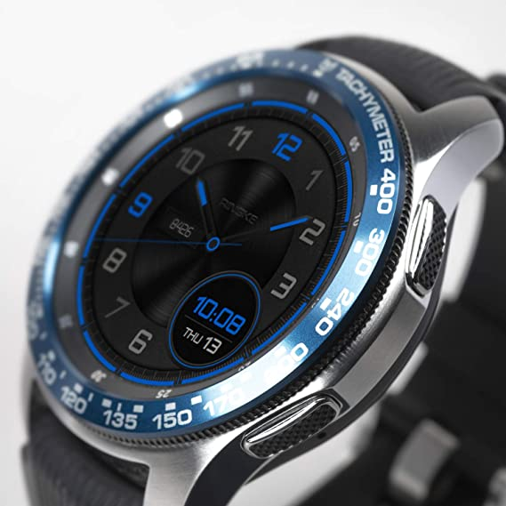 Ringke Bezel Styling for Galaxy Watch 46mm / Galaxy Gear S3 Frontier & Classic Bezel Ring Adhesive Cover Anti Scratch Aluminium Protection Tachymeter [Aluminum] for Galaxy Watch Accessory GW-46-08