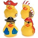 Fun Express 12 Mini Pirate Rubber Ducks Duckie Ducky Party Favors Novelty (1 Dozen)