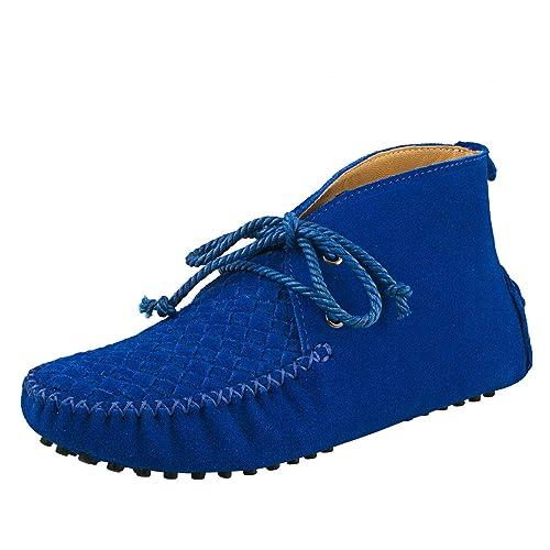 Shenduo Zapatos Casuales - Mocasines de Cuero con Cordones de Moda de Cordones para Mujer D7258: Amazon.es: Zapatos y complementos