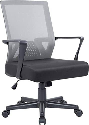 Flamaker Office Chair Mesh Computer Chair Mid Back Swivel Lumbar Support Desk Task Chair Ergonomic Executive Chair