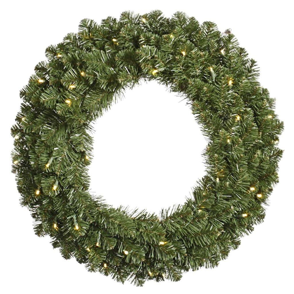 Vickerman 6' Pre-Lit Grand Teton Commercial Artificial Christmas Wreath - Clear Dura-Lit