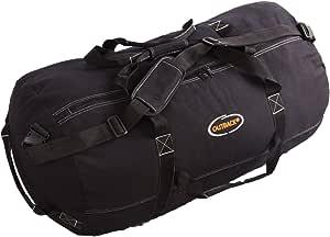 "Ledmark Heavyweight Cotton Canvas Outback Duffle Bag, Black, Large 30"" x 18"""