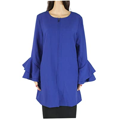 Alfani Womens Collarless Midi Duster Blazer: Clothing