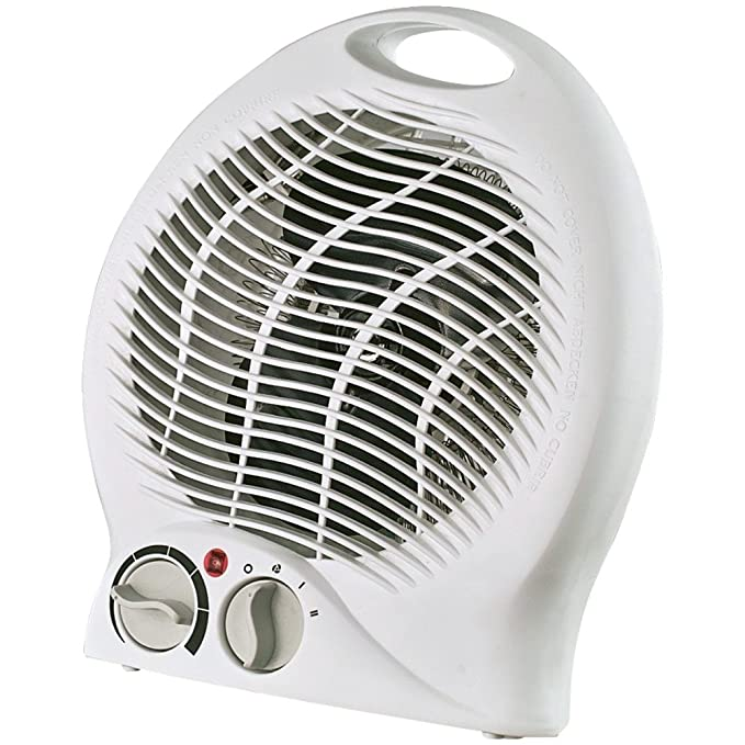 Optimus Portable Fan Heater with Thermostat - Electric - 750 W to 1500 W - 2 x Heat Settings - 150 Sq. ft. Coverage Area - 600 W - 13 A - Portable - ...