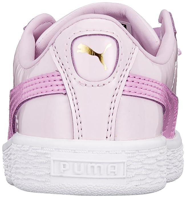 Amazon.com | PUMA Girls Basket Heart Star Trainers 12.5 Child Pink | Running