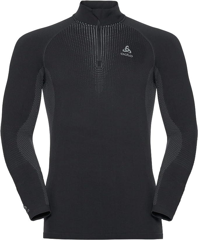 Odlo Herren Bl Top Turtle Neck L//S Half Zip Performance Warm Unterhemd