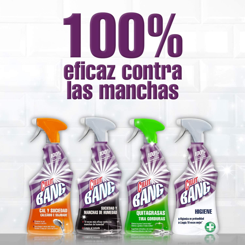 Cillit Bang - Spray Limpiador Cal y Suciedad, para Baños + Spray Quitagrasas Brillo, para cocinas - Pack 6 x 750 ml: Amazon.es: Salud y cuidado personal