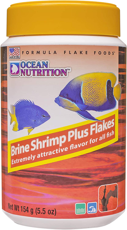 Ocean Nutrition Brine Shrimp Plus Flakes 5.5-Ounces (154 Grams) Jar