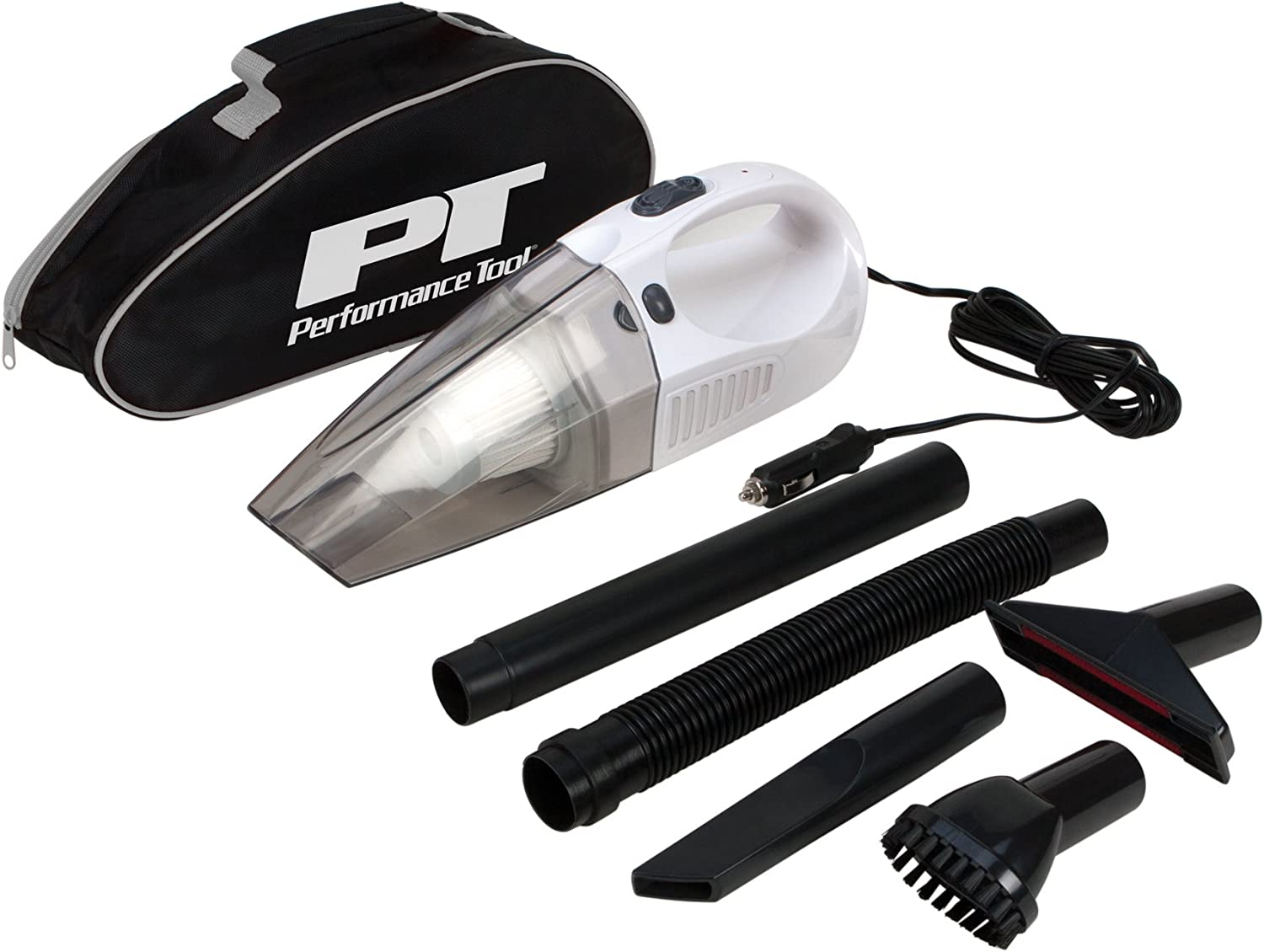 12 V Performance Tool W50012 12V Car W//Attachments Portable Vacuum Cleaner