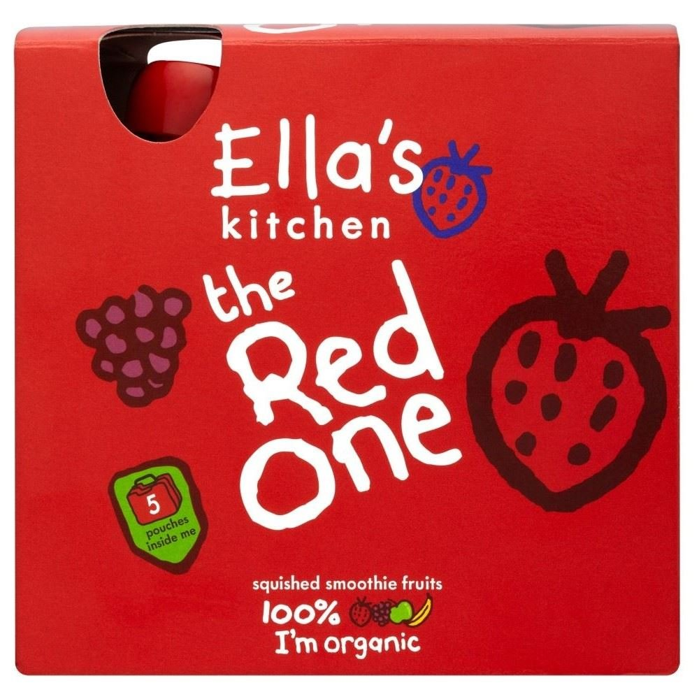 Ella's Kitchen the Red One Organic Squished Smoothie Fruits (5x90g)
