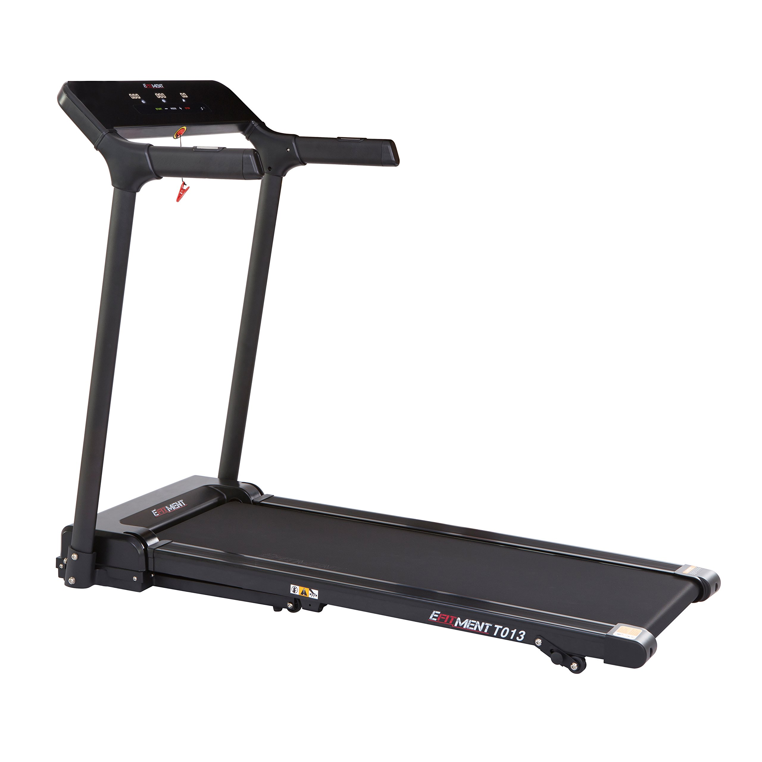 Slimline Motorized Treadmill with Bluetooth, Folding and Incline for Running & Walking by EFITMENT - T013