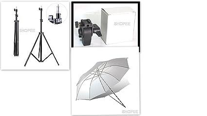 SHOPEE BRANDED Small Studio Home 33 Umbrella Light Setup With B-Bracket And Stand 3 Pc Set <span at amazon