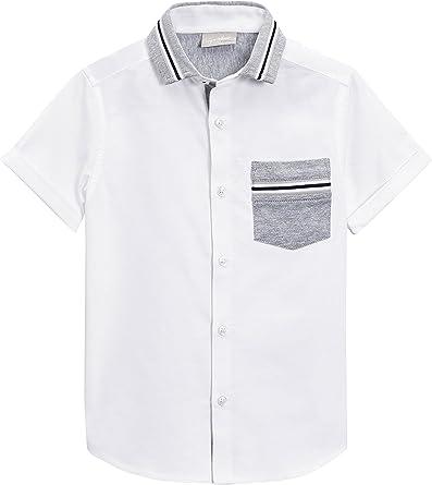 next Niños Camisa De Manga Corta con Doble Cuello De Punto (3 ...