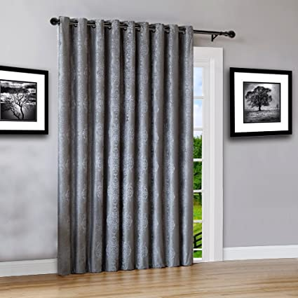 Warm Home Designs Extra Wide 110u0026quot; X 84u0026quot; Charcoal 100% Blackout  Insulated Thermal